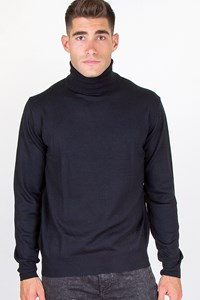 Carouzos Black Wool Roll-Neck Sweater