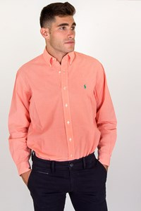 Polo Ralph Lauren Orange-White Checked Cotton Shirt