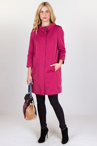 Raspberry Light Cotton Overcoat