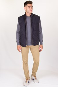 J.Crew Sussex Navy Blue Quilted Vest