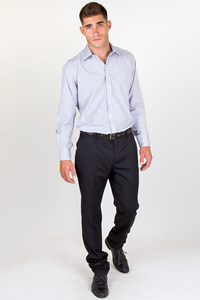 Caruso Superfine 110'S Black Cool-Wool Pants / Size: 52 - Fit: L