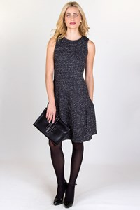 MICHAEL Michael Kors Grey-Black Tweed Dress