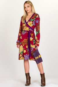 Etro Floral Wrap Jersey Dress / Size: 46 IT