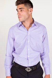 Turnbull & Asser Purplish Ciel Cotton Shirt