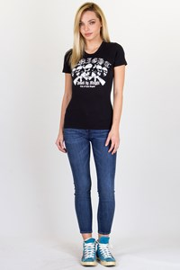 Black T-shirt Crystal Embellished / Fit: XS