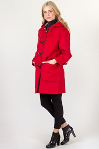 Burberry London Military Red Wool Duffle Coat / Fit: M