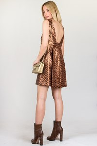 Tibi Metallic Jacquard Dress / Size: 4 US