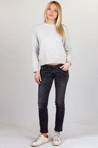 Pierre Balmain Grey Distressed Skinny Jeans / Fit: S-M