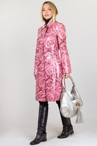 D&G Pink Printed Rain Coat / Size: 42 IT