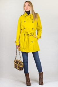 Burberry London Yellow Midlength Trench Coat / Size: 8 UK
