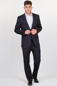 Uman Ink Blue Striped Cool-Wool Suit / Fit: M