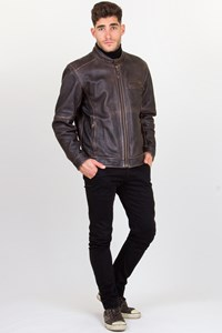 Harley Davidson Brown Distressed Leather Jacket