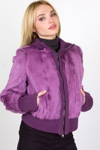 Thes Thes Purple Fur Jacket / Fit: S