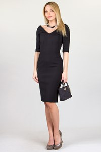 Anna Molinari Black Bodycon Dress / Size: 40 IT
