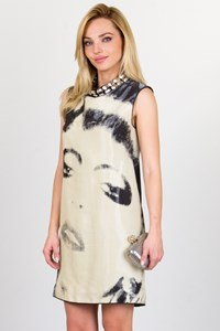 Lanvin Silk Printed Dress with Crystals / Size: 36 FR
