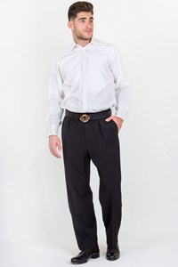Ralph Lauren Black Cool-Wool Pants / Fit: S/M