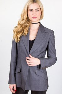 Stella McCartney Grey Cool Wool Blazer / Fit: S