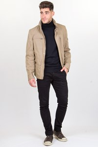Brunello Cucinelli Ash Beige Light Jacket with Concealed Hood