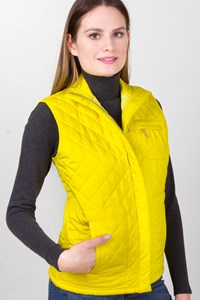 Ralph Lauren Yellow Quilted Sleeveless Jacket / Fit: Small