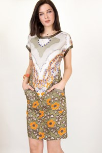 Etro Flower-Print Silk Dress / Size: 40 IT - Fit: S