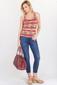 M Missoni Multicoloured Knitted Top / Fit: XS-S