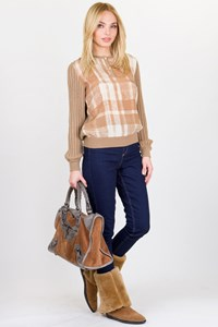 Valentino Beige Wool Knitted Blouse / Fit: XS / S
