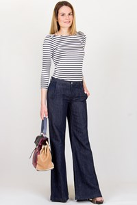 J Brand Blue Wide-Leg Jeans / Size: 25 - Fit: S