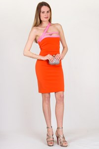 Dsquared2 Orange-Pink Bodycon Dress / Size: XS - Fit: True to Size