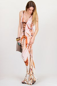 Pucci Printed and Mirror-Embellished Maxi Dress / Size: 38 IT - Fit: XS / S