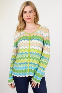 Basler Multicolor Zig-Zag Cardigan / Size: 48 IT - Fit: Μ