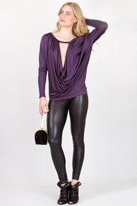 Richmond X Drapped Aubergine Tunic / Size: 44 IT - Fit: S/M
