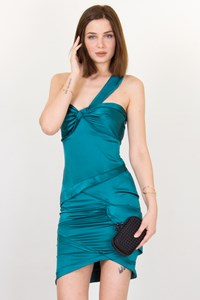 Gucci Teal Blue Dress with Perforated Details / Size: 40 IT- Fit: S