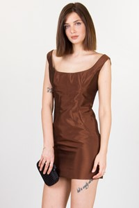 Dolce & Gabbana Rust-Coloured Taffeta Dress / Size: 44 IT - Fit: S