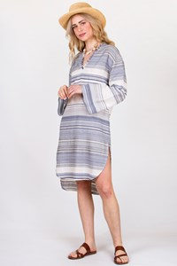 wildwood Andrianna Striped Cotton Kaftan / Size: S - Fit: S/M