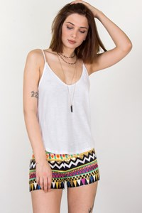 Sass & Bide Coming Back Embroidered Shorts / Size: 6 UK - Fit: XS/S