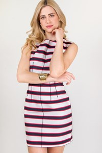 D&G White-Blue-Red Striped Dress