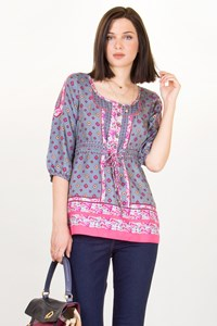 Juicy Couture Multicolor Printed Silk Blouse / Size: 4 US - Fit: S