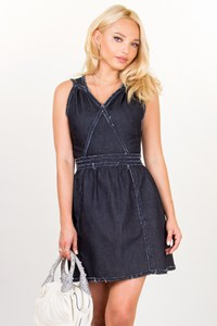 Karl Lagerfeld Dark Blue Denim Dress / Size: 40 IT - Fit: XS/S