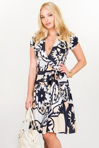 DVF Multicoloured Printed Wrap Dress / Size: 2 US - Fit: XS / S