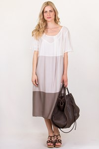 Persona White-Taupe Dress / Size: 29 - Fit: L/XL