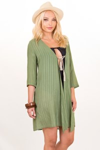 Zeus + Dione Persephone Green Caftan / Size: 38 - Fit: S