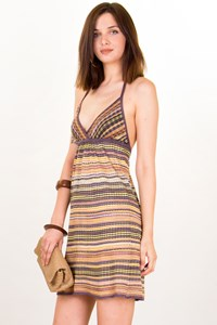 M Missoni Multicoloured Jacquard-Pattern Knitted Dress / Size: 40 - Fit: XSmall