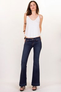 J Brand Lovestory Dark Blue Low-Rise Flare Jeans / Size: 26 - Fit: XS / S