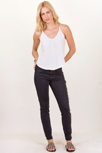 Current/Elliott Black Fringed Jeans / Size: 26 - Fit: XS / S