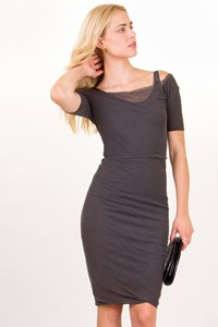 Nina Ricci Mouse Grey Bodycon Dress / Fit: XS / S