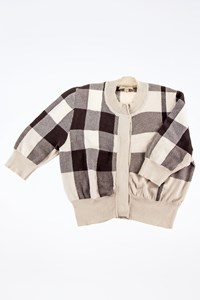 Burberry London Check Knitted Cotton Short Cardigan / Size: M - Fit: S