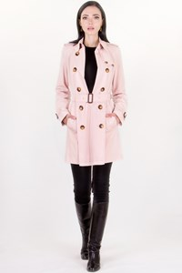 Burberry London Pale Pink Mid-Length Trench Coat / Size: 10 UK - Fit: S