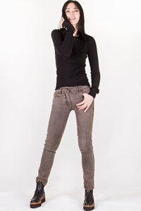 Dolce & Gabbana Brown Cotton High-Waisted Jeans / Size: 38 - Fit: XS / S