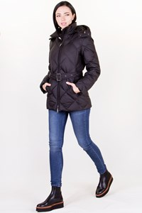 Burberry London Black Quilted Jacket with Removable Hood / Size: XS - Fit: XS / S