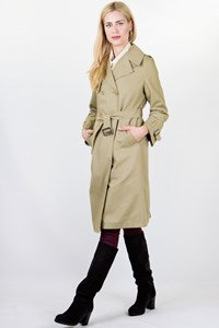 Beige Midi Trench Coat / Size: 42 IT - Fit: S
